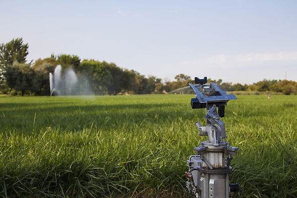 Irrigating a ranch with a Big Gun automation irrigation system