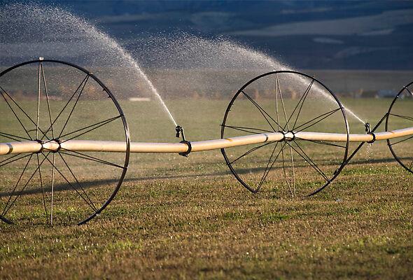 R33 Rotator® Sprinklers on a wheel line in Eastern Washington.